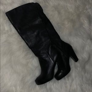 Leather heel boots by Steve Madden